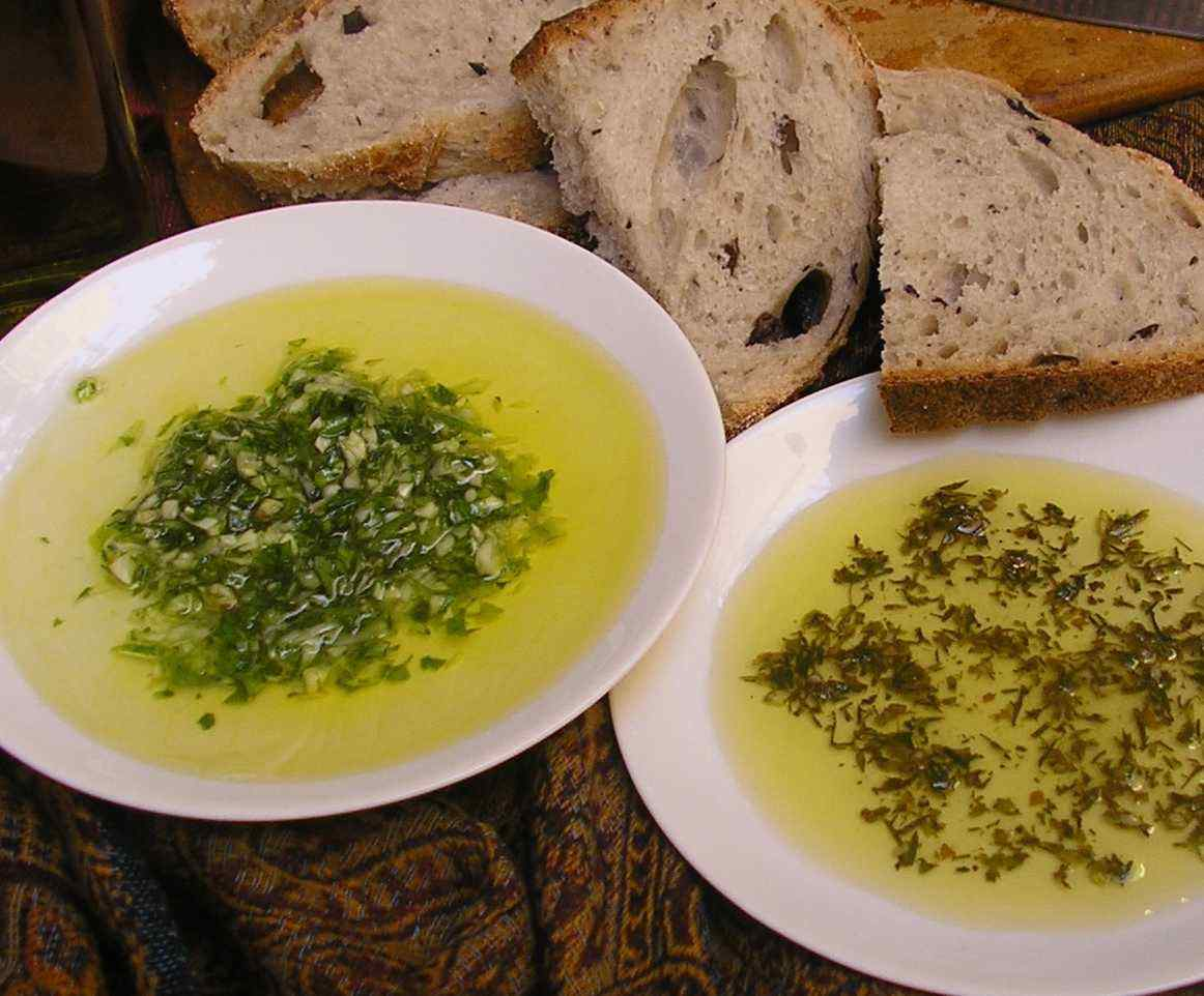 and served with Golden Olive Oil Dips