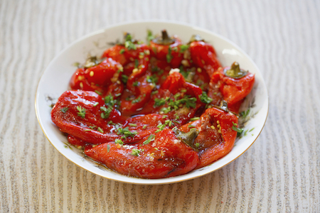 BeJEWeled Roasted Pepper Salad with cumin