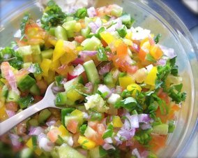 Israeli Salad for a touch of the Holy Land