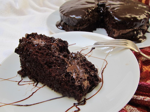 Chocolate cake made with beets