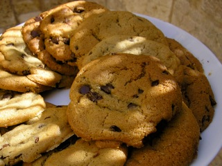 Chocolate Chip Cookies margarine and butter free. made with oil