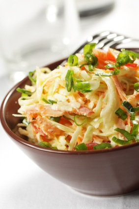 Citrus Slaw, a mayonnaise free slaw that even kids like