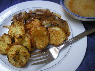 Low-Fat Latkes, gluten free, Chanukah, Cooking for the King by Renee Rousso Chernin