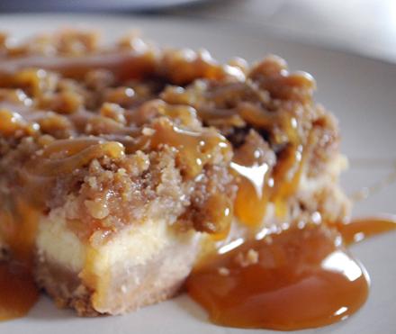 Gooey Good Caramel Apple Cheesecake Squares